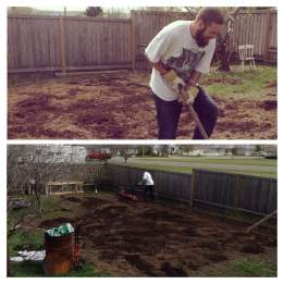 making a garden plot