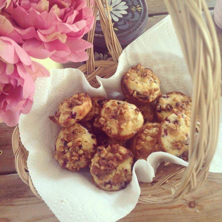 lemon saskatoon muffins