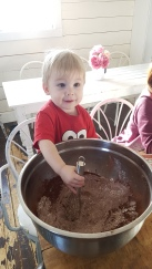 making some brownies